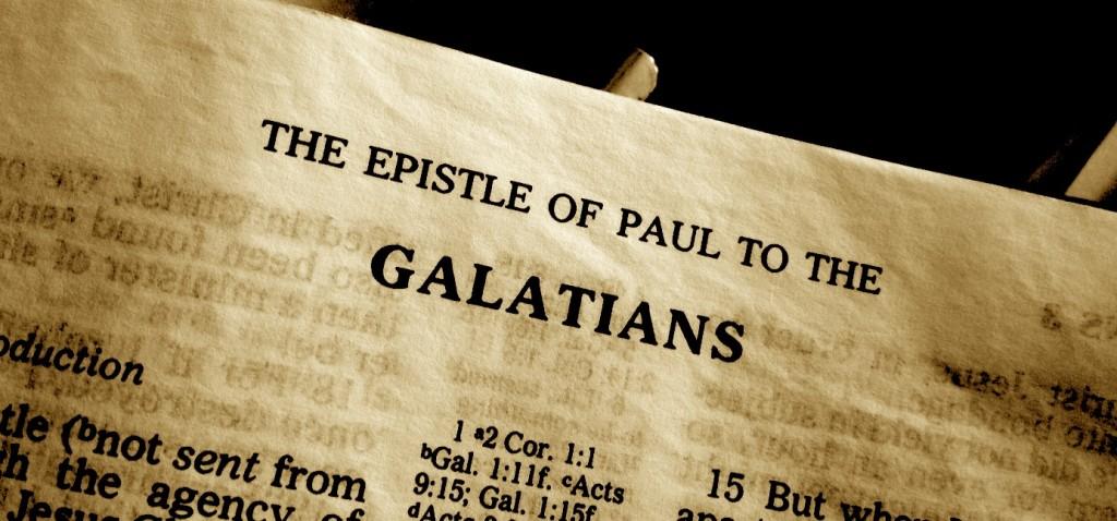Galatians Title, sepia