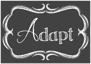 Adapt – My Word For The New Year