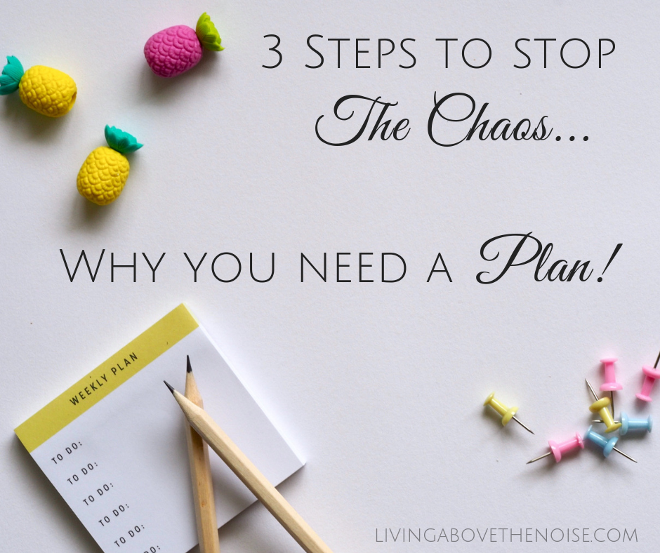 3 Steps To Stop The Chaos…Why You Need A Plan!