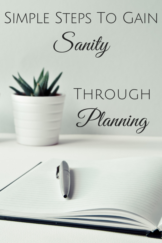 Simple Steps To Gain Sanity Through Planning