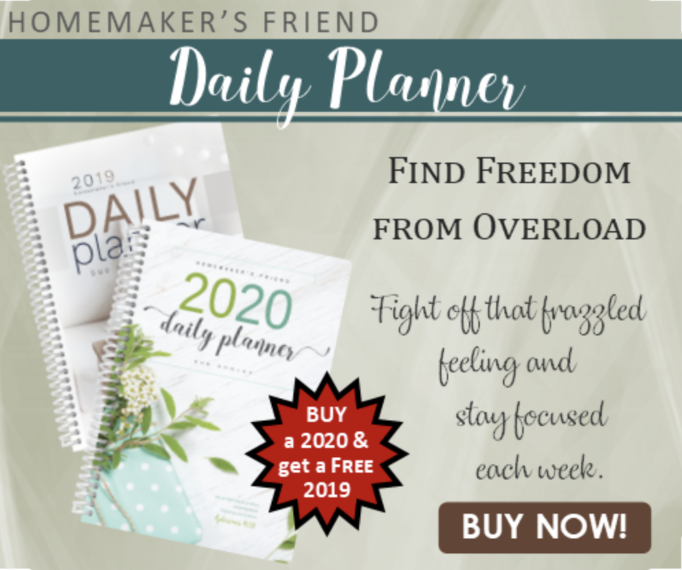 On a Budget?  ~  Try the Homemaker's Friend Daily Planner.